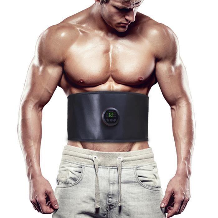 Appareil Ceinture abdominal muscle Stimulateur EMS amincissante abdominale électrique Entraîneur de taille à 6 modes