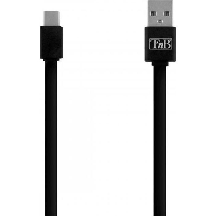 TNB Câble USB/USB-C 30cm - noir