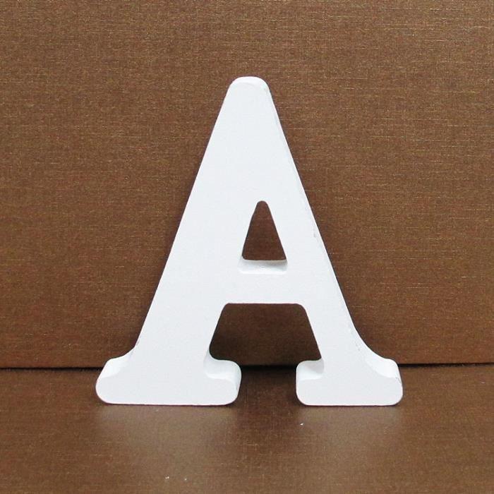 13 cm grandes lettres avait Tout 5 en Bois Blanc Lettres A-Z ou /& Signes