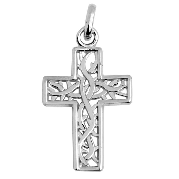 Pendentif 10 ct 471/1000 Or Blanc Celtique Irish Celtique Croix