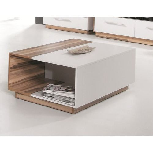 Table basse design white achat vente table basse table - Table basse bois blanc ...
