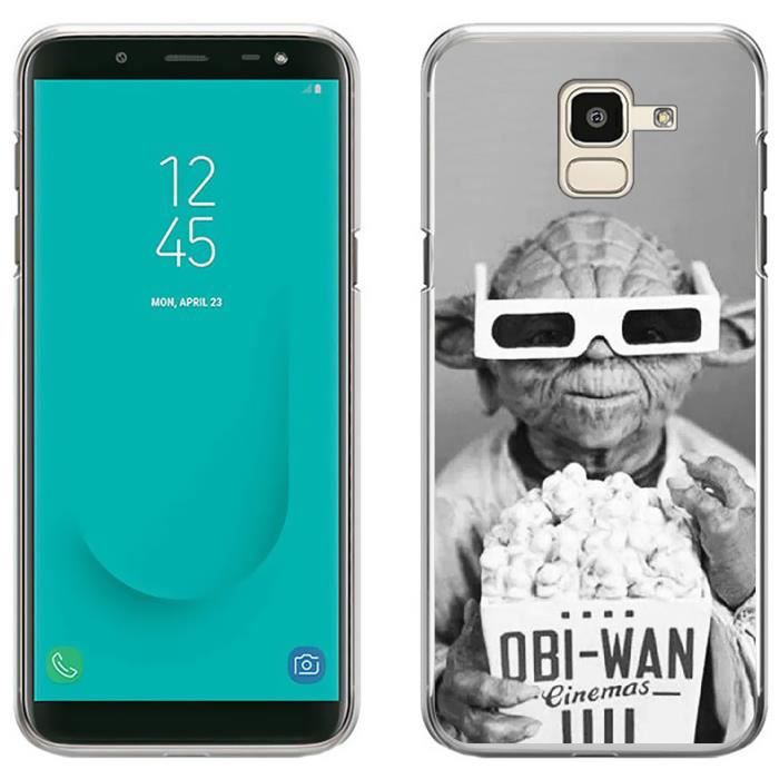 Coque pour Samsung Galaxy J6 star wars yoda cinéma