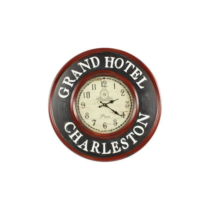 horloge ancienne murale grand hotel charleston achat vente horloge fer cdiscount. Black Bedroom Furniture Sets. Home Design Ideas
