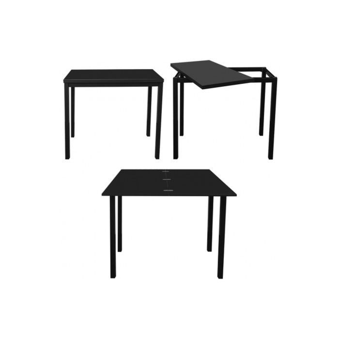 Table de bar extensible huston laqu e noire l 1 achat for Achat table bar
