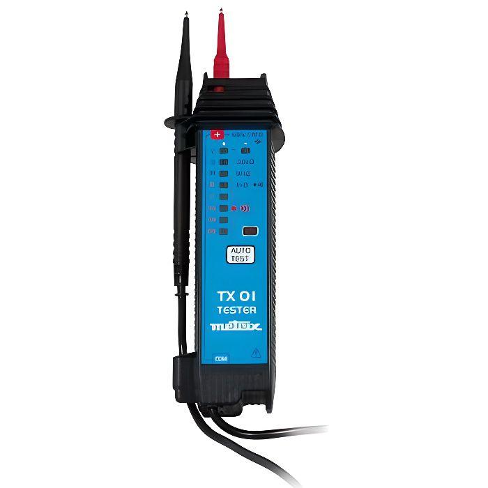 Sandis Une paire de Ligne de test multimetre a Fiche banane 1000V 2.6 Ft Sonde de voltmetre Cable de test de voltmetre Noir et rouge