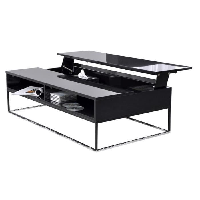 Table basse relevable plateau verre - Table basse plateau relevable fly ...