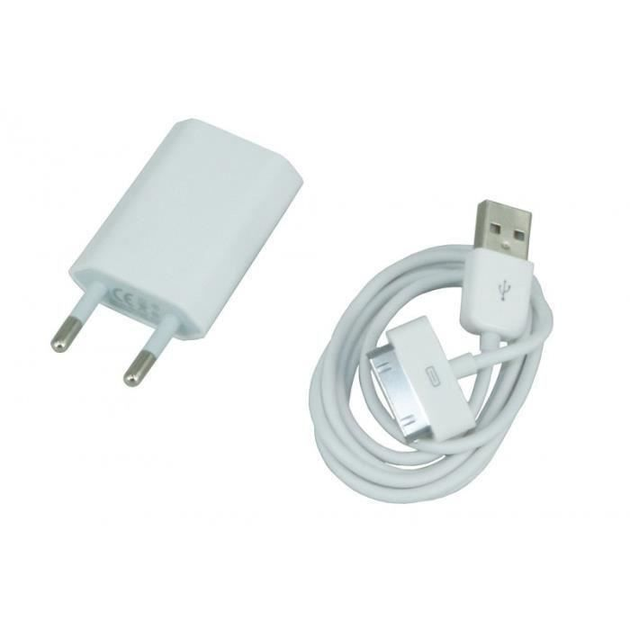 Luodao chargeur alimentation murale cable usb pour for Chargeur mural iphone