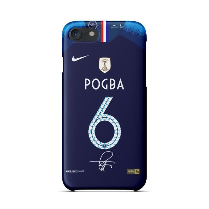 coque iphone 7 8 pogba bleu 2018 coupe du monde de