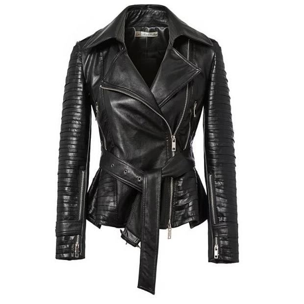 wecheers femmes slim noir de motard en cuir zipper veste manteau blouson blazer moto coat noir. Black Bedroom Furniture Sets. Home Design Ideas