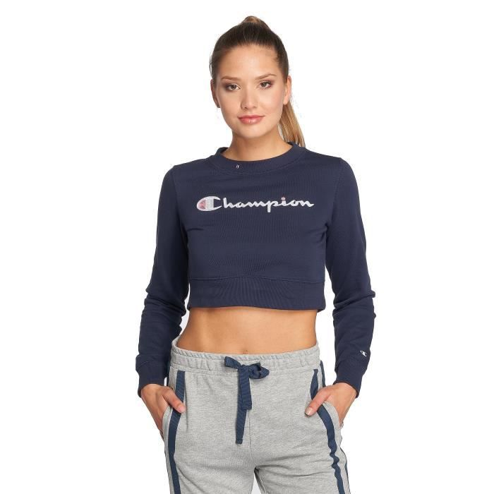 champion athletics femme hauts sweat pull crewneck bleu bleu achat vente pull cdiscount. Black Bedroom Furniture Sets. Home Design Ideas