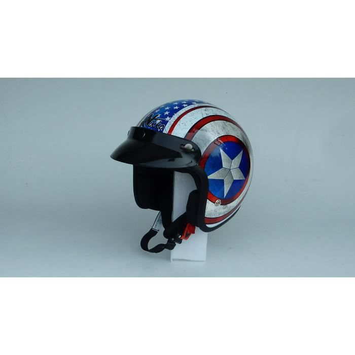 casque moto jet route 66 patriot achat vente casque moto scooter casque moto jet route 66 pa. Black Bedroom Furniture Sets. Home Design Ideas
