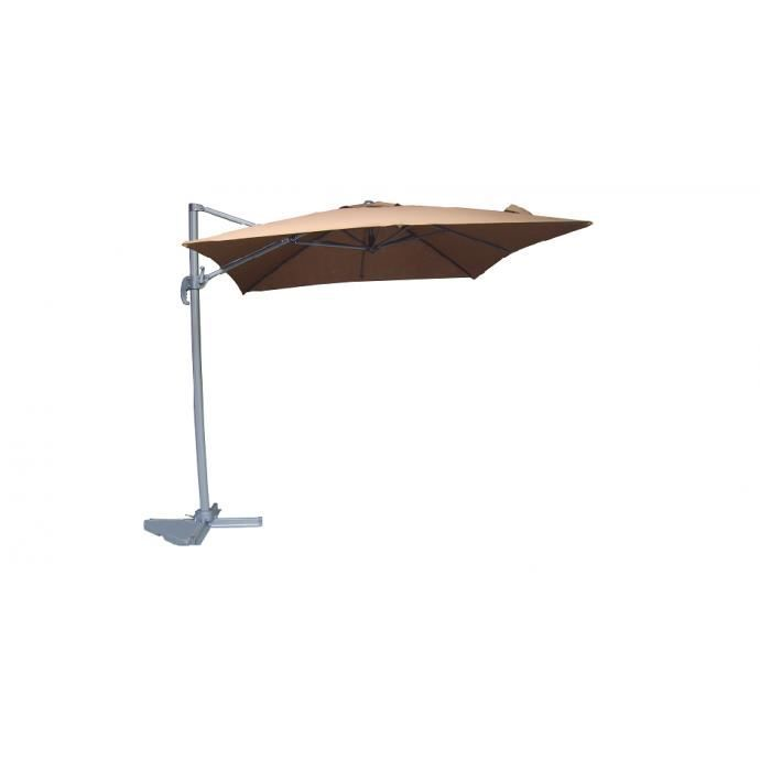 parasol d port carr de rotatif 360 achat vente parasol parasol d port carr. Black Bedroom Furniture Sets. Home Design Ideas