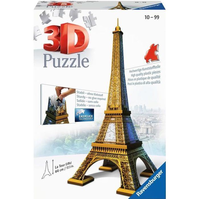puzzle 3d tour eiffel 216 pcs achat vente puzzle puzzle 3d tour eiffel cdiscount. Black Bedroom Furniture Sets. Home Design Ideas