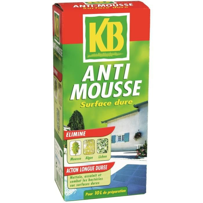 Kb anti mousse surface dure 1l achat vente for Bayer jardin anti mousse