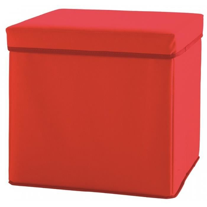 Pouf table de nuit someo rouge achat vente chevet pouf - Table de chevet rouge ...