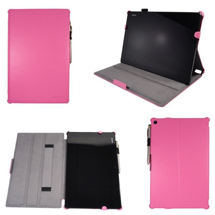 etui housse sony xperia z tablet rose cuir pu prix pas. Black Bedroom Furniture Sets. Home Design Ideas