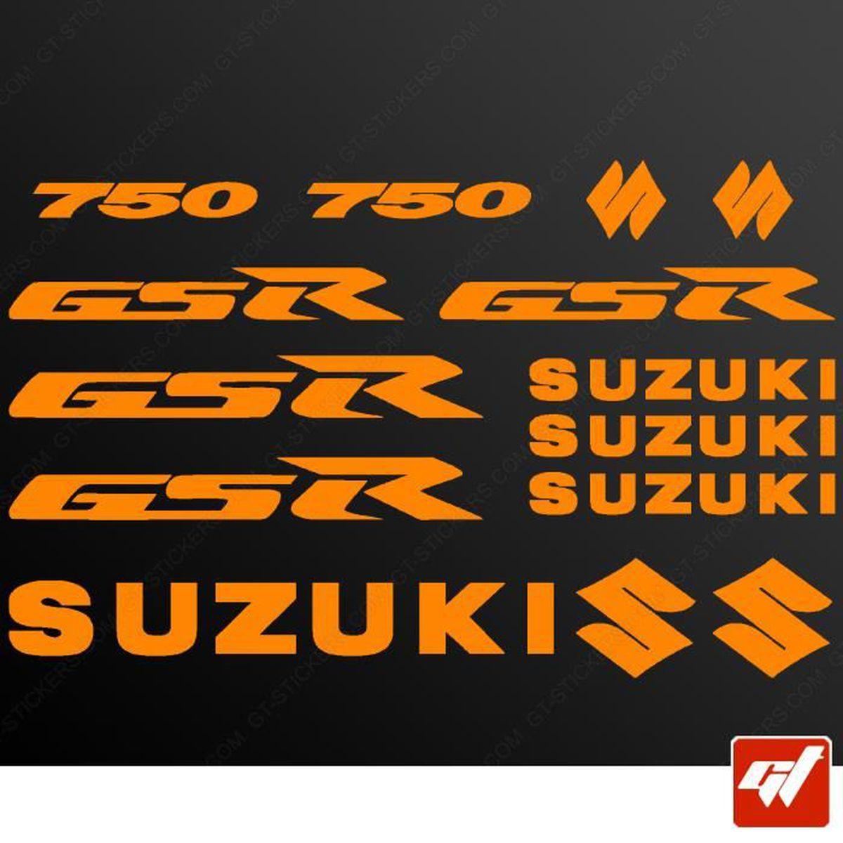AUTOCOLLANTS GSR 750 SUZUKI STICKERS MOTO  STICKER AUTOCOLLANT AU CHOIX