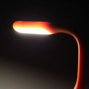 LAMPE A POSER Orange Mini Portable USB LED Lumière Bendable Lamp