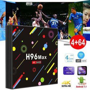 BOX MULTIMEDIA H96 MAX H2 Android 7.1 TV BOX Rockchip RK3328 4Go