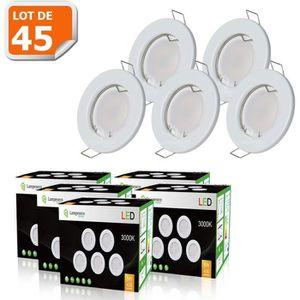 SPOTS - LIGNE DE SPOTS Kit complet Spot encastrable + ampoule led GU10 sm