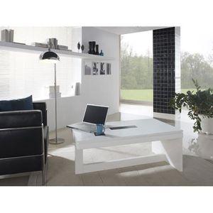 TABLE BASSE Table basse relevable blanc laqué design EVISTA 4