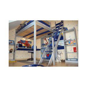 LIT MEZZANINE Lit Mezzanine Sylvia avec escalier de meunier bois