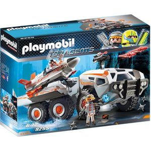 UNIVERS MINIATURE PLAYMOBIL 9255 - Top Agents - Camion et Navette de
