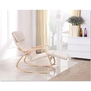 FAUTEUIL Fauteuil / Chaise à bascule couleur  BEIGE avec re