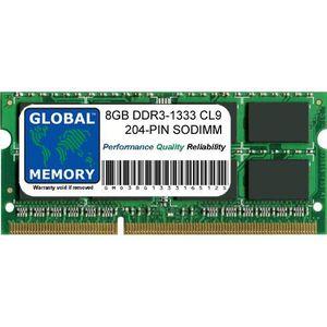 MÉMOIRE RAM 8Go DDR3 1333MHz PC3-10600 204-PIN SODIMM MÉMOIRE