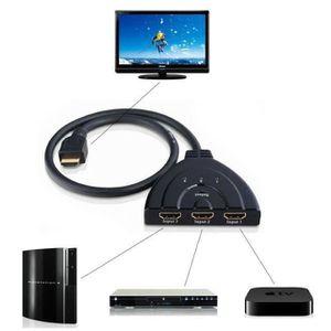 REPARTITEUR TV CS Hdmi Répartiteur Switch Commutateur Avec Cable