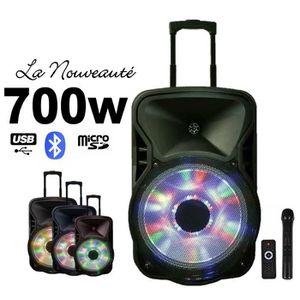 PACK SONO Enceinte Mobile amplifiée 700W avec Batterie recha