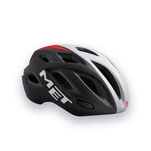 ALLIANCE - SOLITAIRE Road Bike Cycle Helmet MET Idolo Black White Red