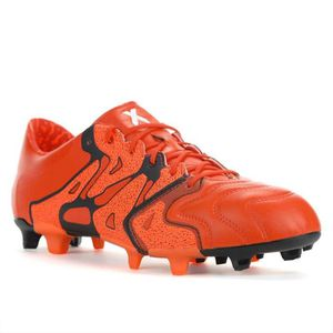 the best attitude 6ded1 b1a12 CHAUSSURES DE FOOTBALL ADIDAS - Adidas X 15.1 FGAG Cuir - (39 1