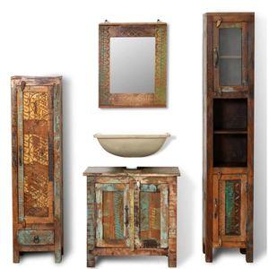 ARMOIRE DE CHAMBRE Armoire de salle de bain et miroir et 2 armoires l