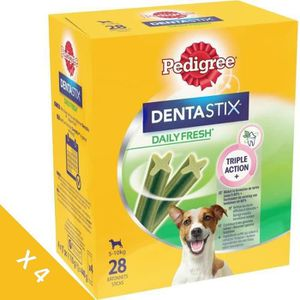 FRIANDISE PEDIGREE Dentastix Fresh - Bâtonnets à mâcher - Po