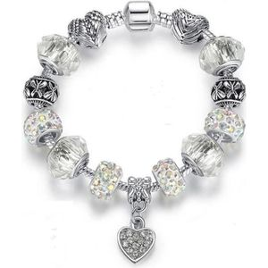 BRACELET - GOURMETTE 20 cm Bracelet Charm Coeur Cristal Swarovski* Styl