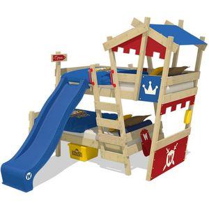 LITS SUPERPOSÉS WICKEY Lits superposés pour enfant en bois CrAzY C
