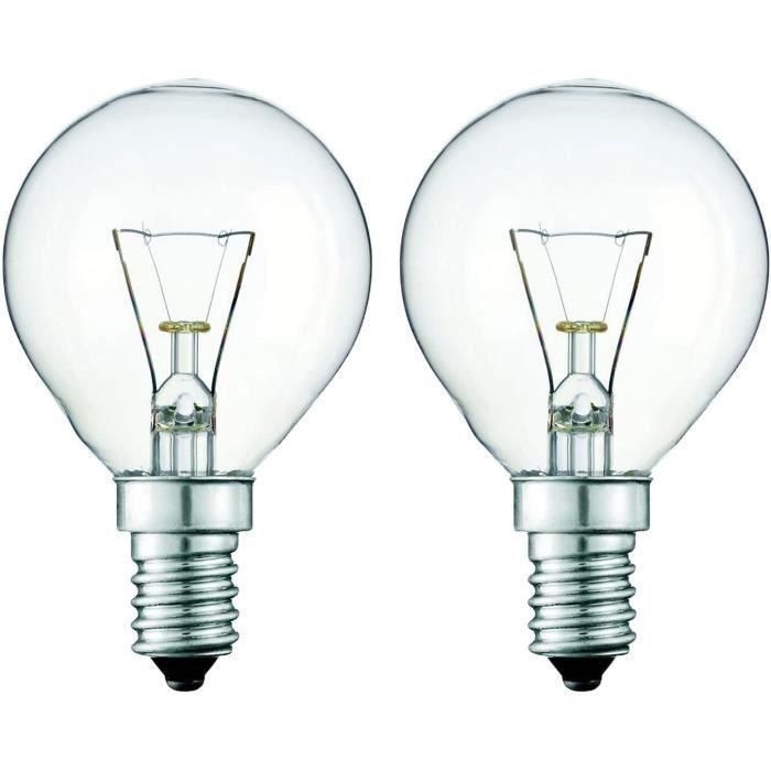 2 x 40 Watts 240 V 300° Chaleur Résistant Four Lampe pour Usage En Ibenra Four.