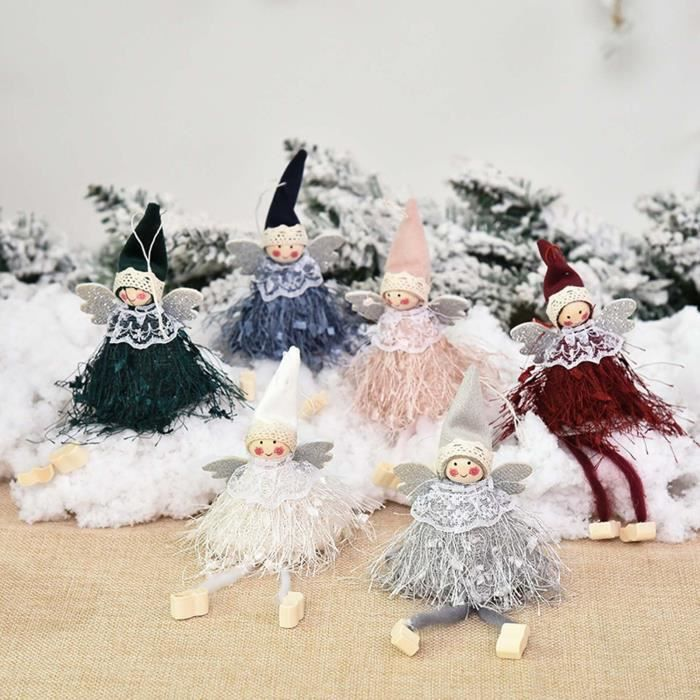 6PC Christmas Ornaments Gift Santa Claus Snowman Toy Doll Hang A1628