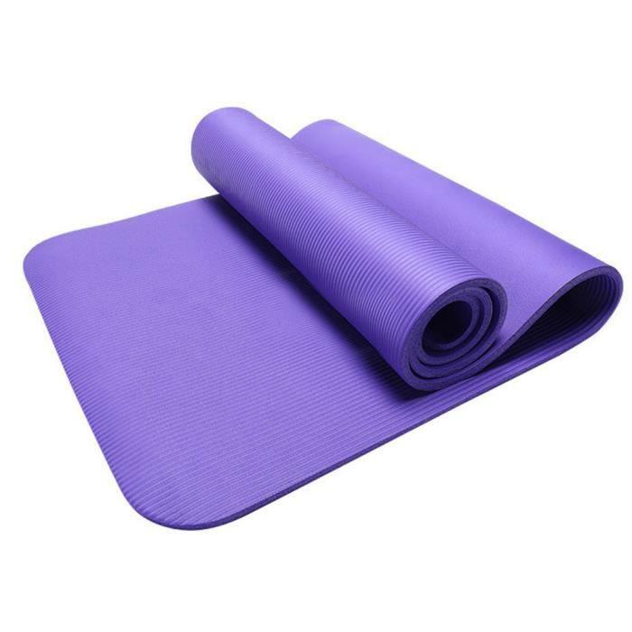 Yoga épais durable 10MM tapis anti-dérapant exercice Fitness Pad Mat perdre du poids PP Sport 126