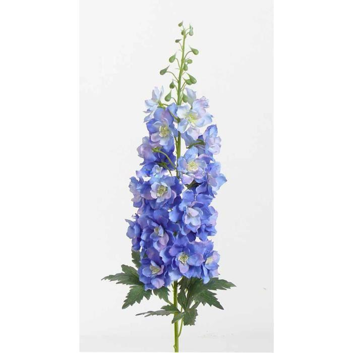 artplants.de Pied d'alouette Artificiel RIKKE, Bleu Clair, 95cm, Ø15cm - Fleur synthétique - Bouquet Artificiel