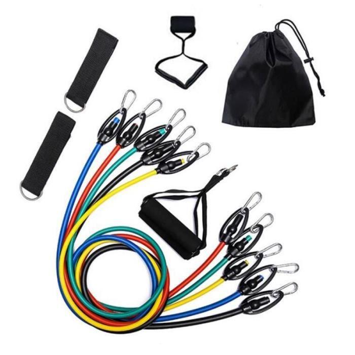 11 pièces Fitness rallye tirant corde entraînement équipement de Fitness Fitness bande élastique bande - Modèle: 01 - HSJSTLDB02431