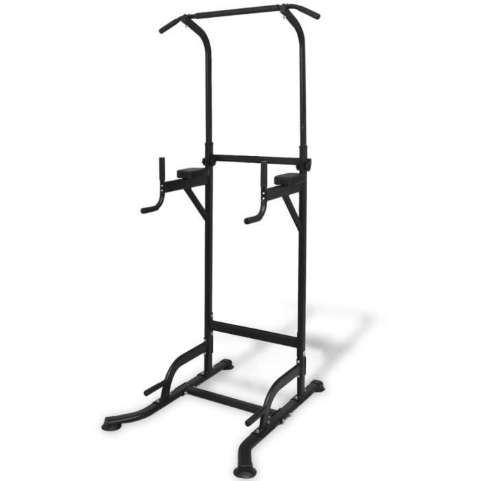 Tour de musculation d'exercice Gym Domicile Fitness Barre de traction 182 - 235 cm
