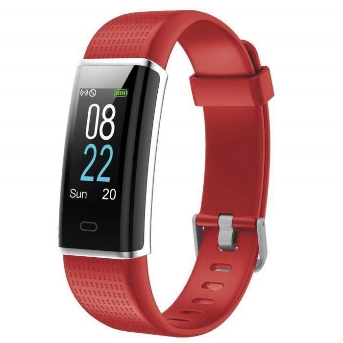 Marqueune Montre Connectée Homme Femme Enfant Smart Watch Smartwatch Sport Running pour iPhone Huawei Samsung Xiaomi Sony Rouge