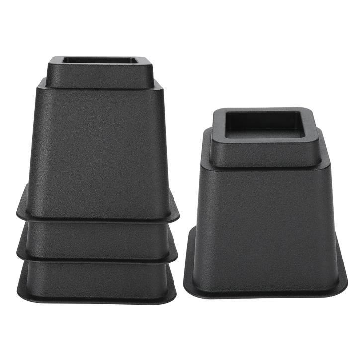 4 pièces / ensemble 5 élévateurs de meubles réglables lit chaise élévatrice pieds larges supports de levage-JIY