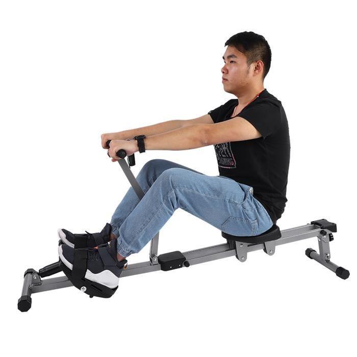Machine à ramer en acier Cardio Rower Workout Body Training Accessoire de fitness à domicile HB069