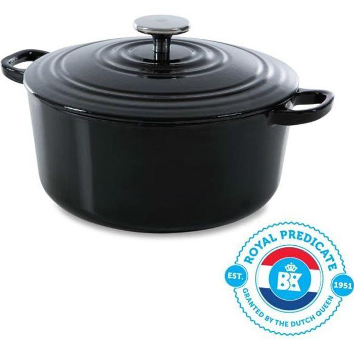 BK Cookware H6071.932 BK Bourgogne Cocotte en Fonte - Ovale - 32 cm - 7.5L - Revêtement émaillé - Couvercle avec Anneaux