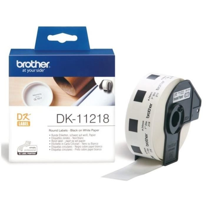 BROTHER Ruban papier P-TOUCH DK-11218 - 24x24mm