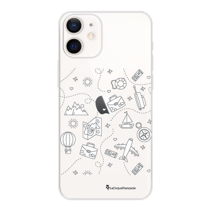 Coque iPhone 12 mini 360 intégrale transparente Aventure Ecriture Tendance Design La Coque Francaise.