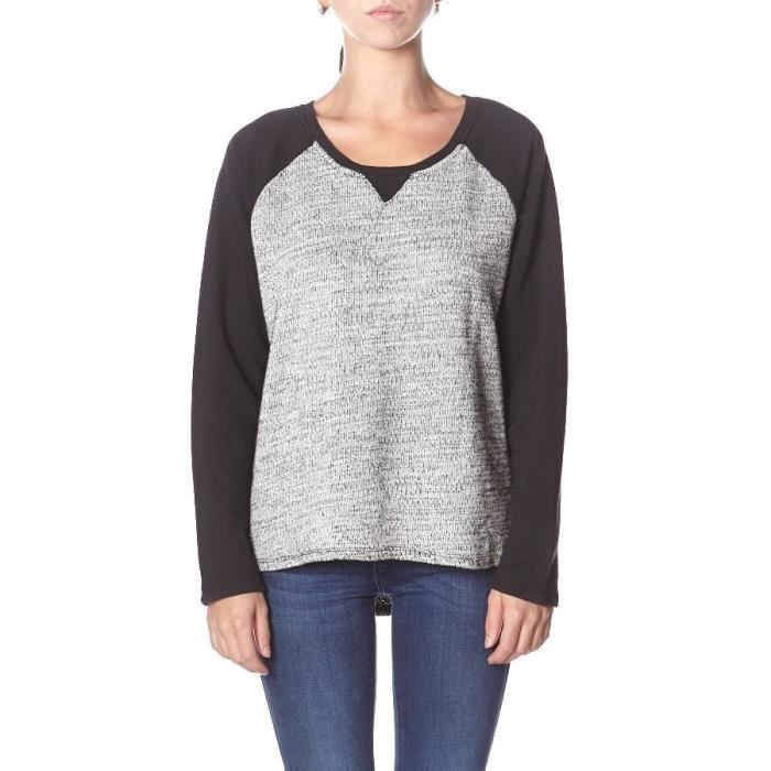 ELEMENT Sweatshirt Salome - Femme - Gris Chiné et Noir